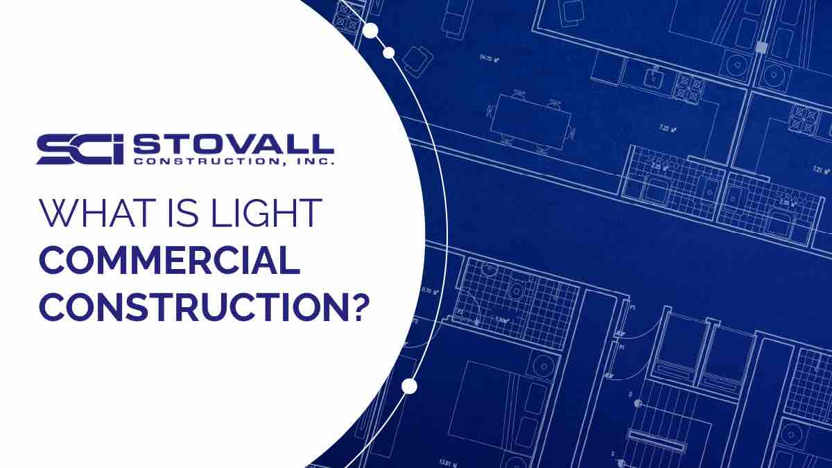 Blueprint with light commercial construction