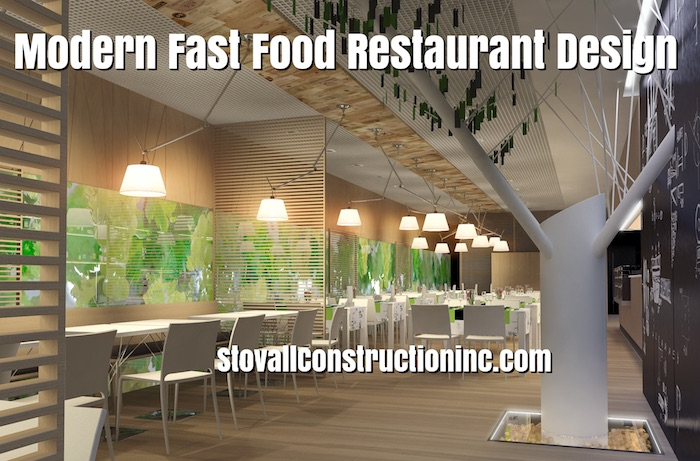 Modern Fast Food Restaurant Design Stovall Construction Inc