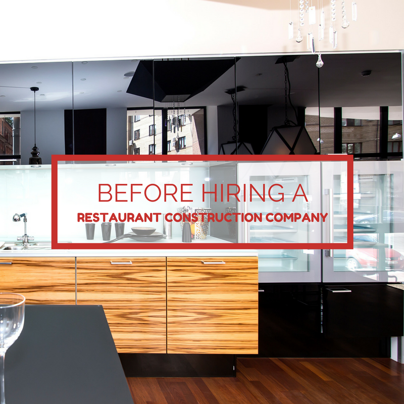 Mistakes to avoid before hiring a restaurant construction